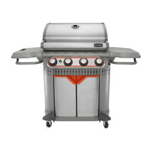 Quattro 600 sq. in. 4-Burner Gas Grill with Insert System