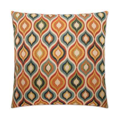 Flicker Feather Down 24 in. x 24 in. Standard Decorative Throw Pillow
