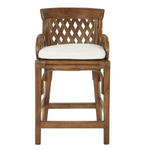 Safavieh Fremont 29 92 In White Cushioned Bar Stool Fox6532b The Home Depot