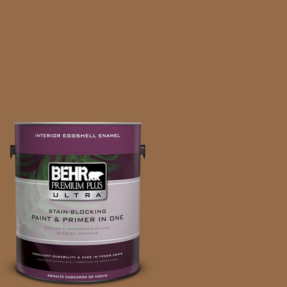 BEHR Premium Plus Ultra 1-gal. #S260-7 Nugget Gold Eggshell Enamel Interior Paint