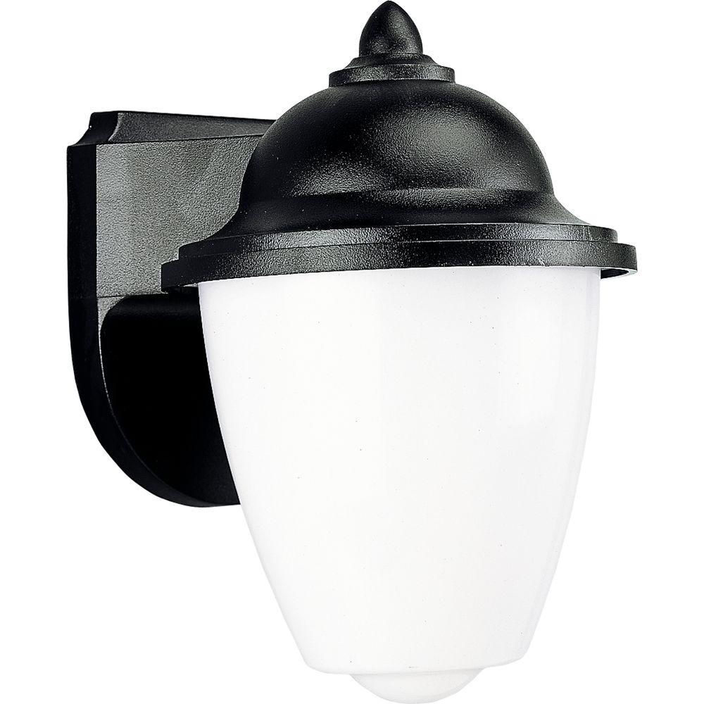 Polycarbonate Collection Black 8.75 in. Outdoor Wall Lantern Sconce