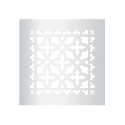 Scroll Series 8 in. x 8 in. Aluminum Grille, Silver without Mounting Holes