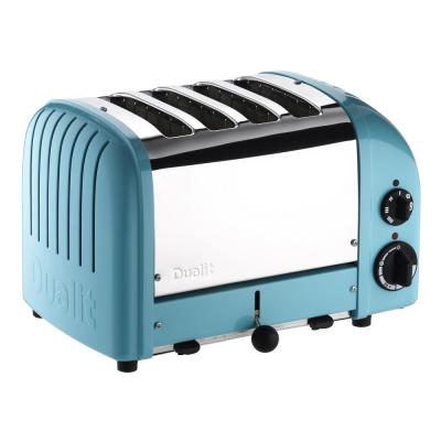 Dualit-New Gen 4-Slice Azure Blue Wide Slot Toaster with Crumb Tray