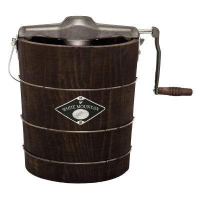 Manual 4 Qt. Green and Brown Hand Crank Ice Cream Maker
