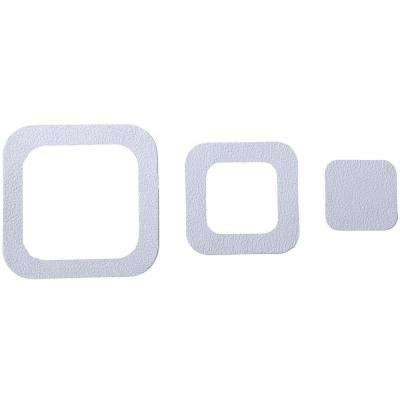 Adhesive Square Treads in White (21-Count)