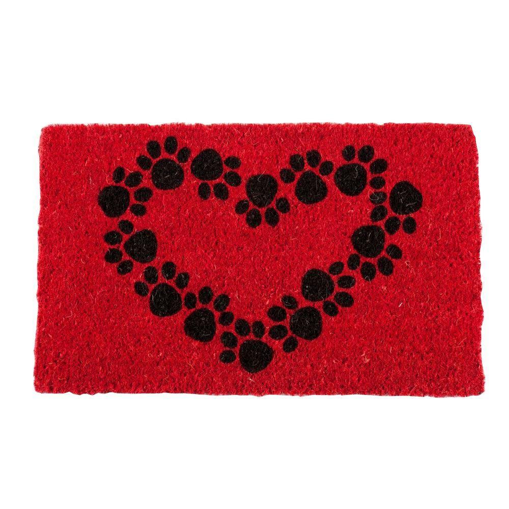Heart and Soles 18 in. x 30 in. Coconut Fiber Door Mat