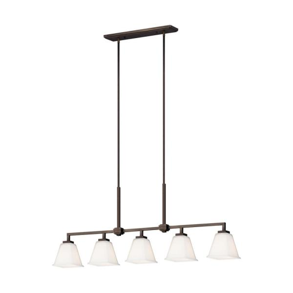 Ellis Harper 5-Light Brushed Oil Rubbed Bronze Island Pendant with LED Bulbs