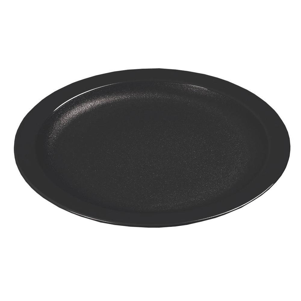 6.5 in. Narrow Rim Commercial Dinnerware Plate in Black (Case of 48)