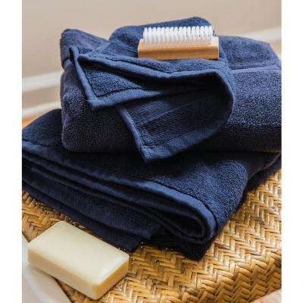 Luxury 8-Piece Blue Solid Bath Towel Set