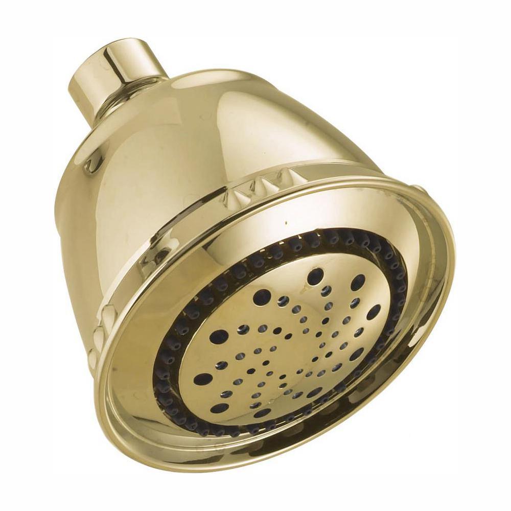 Delta 5-Spray 3.75 in. Fixed Showerhead in Polished Brass