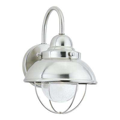 Sebring Brushed Stainless Outdoor 11.25 in. Integrated LED Wall Mount Lantern