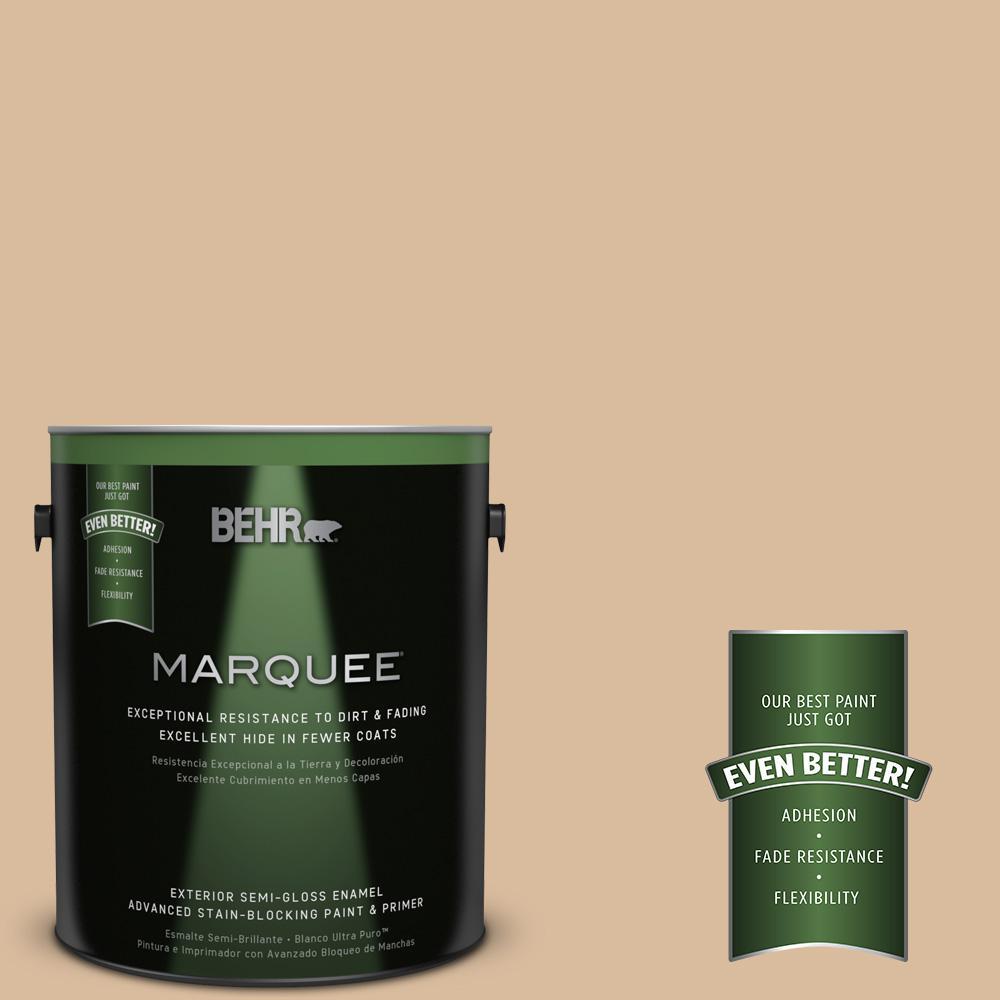 1-gal. #BXC-40 Soft Wheat Semi-Gloss Enamel Exterior Paint