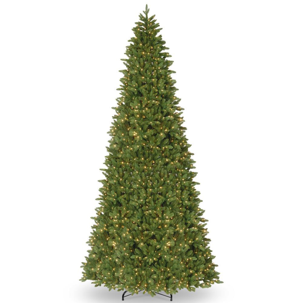 Tall Slim Christmas Tree.National Tree Company 14 Ft Ridgewood Spruce Slim Artificial Christmas Tree With Clear Lights