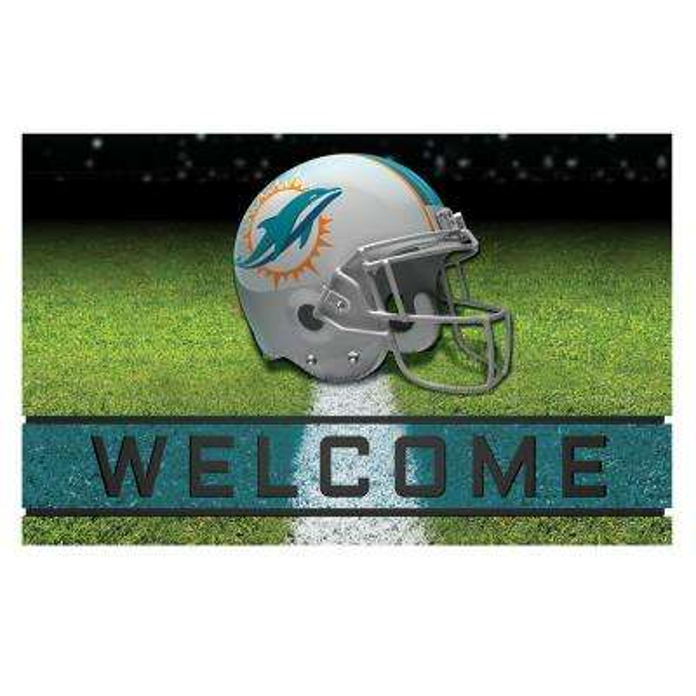 NFL - Miami Dolphins 18 in. x 30 in. Rubber Door Mat