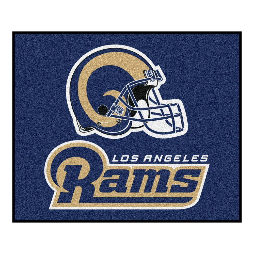 Los Angeles Rams 5 ft. x 6 ft. Tailgater Rug