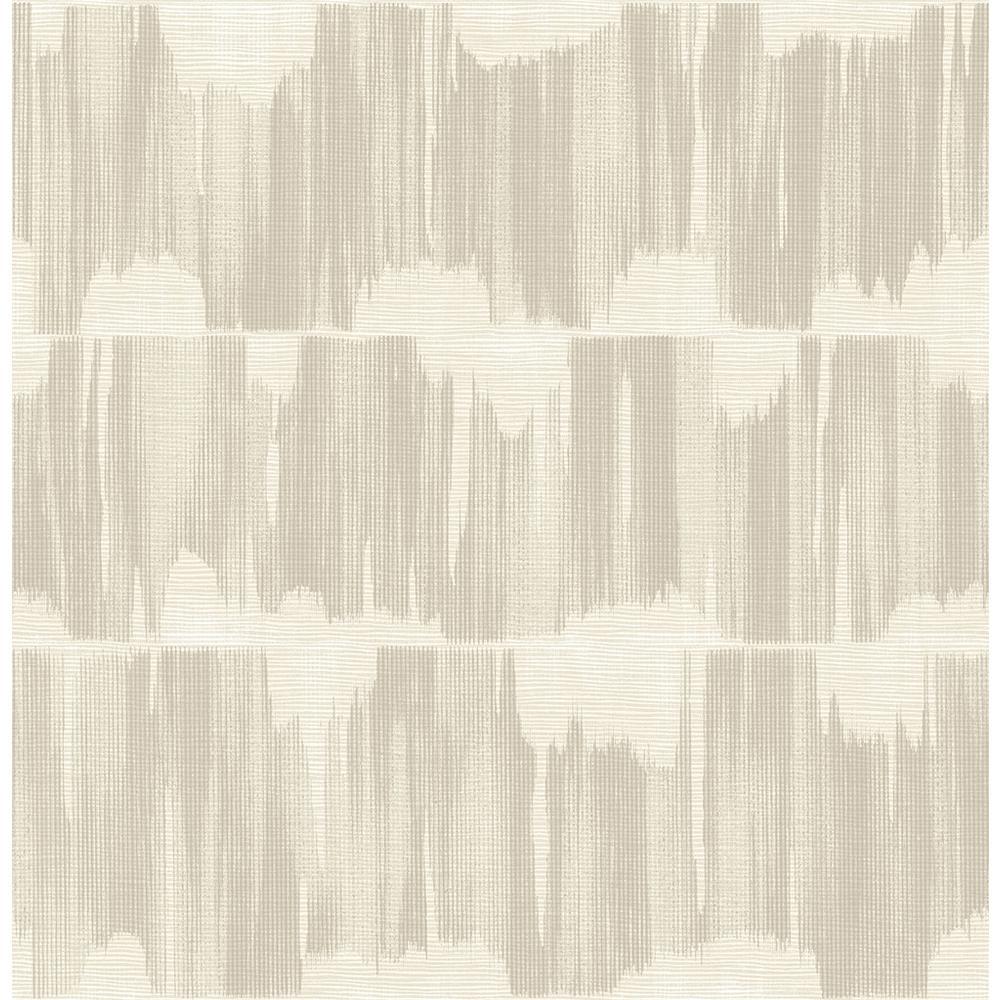 A-Street 8 in. x 10 in. Serendipity Beige Shibori Wallpaper Sample