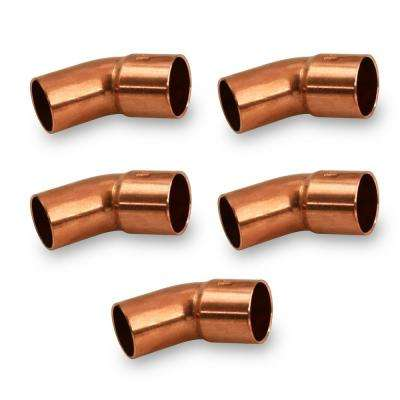 1/4 in. Copper FTG x C 45-Degree Street Elbow Fitting (5-Pack)