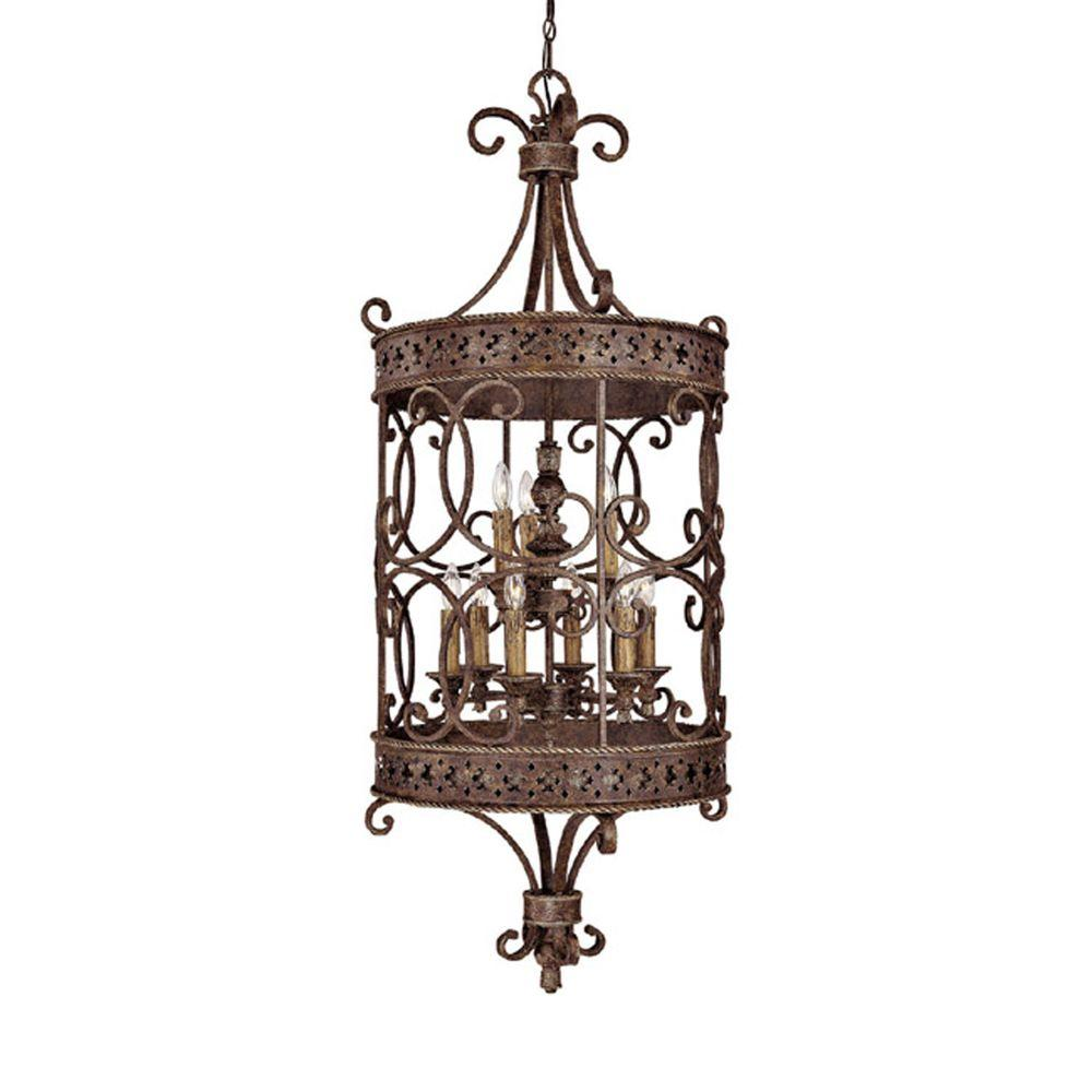 Filament Design 9-Light 58 in. Foyer Crusted Umber Finish-DISCONTINUED