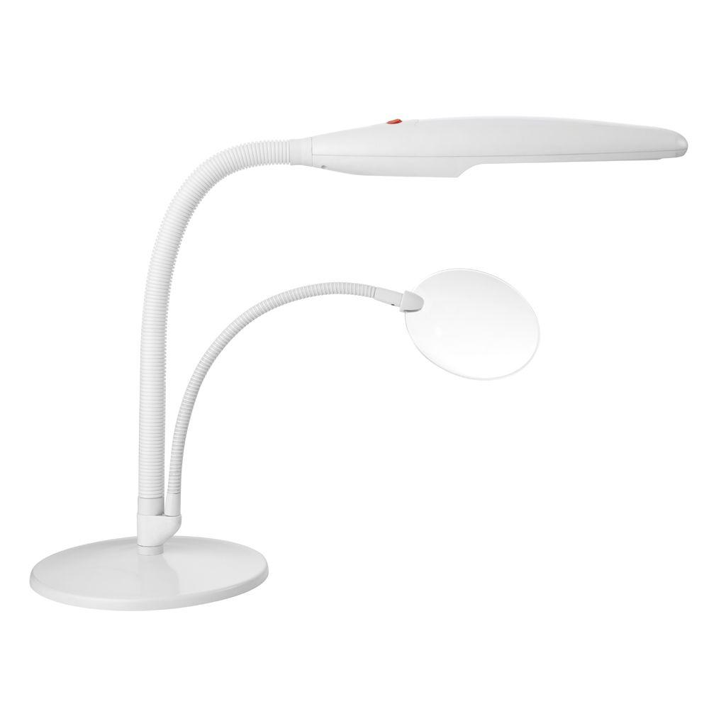Daylight 17.5 In. White Easy Twist Table Top Lamp
