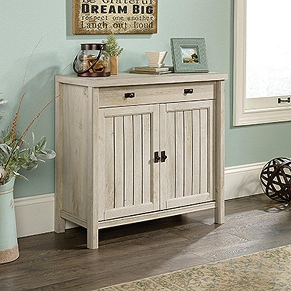 SAUDER Costa Chalked Chestnut Library Base Cabinet-419960 - The Home ...