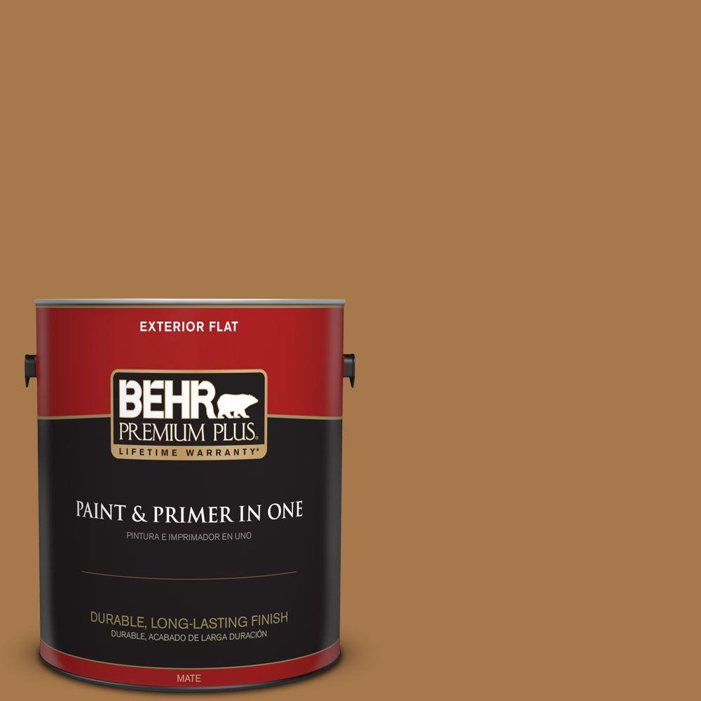 1 gal. #HDC-CL-18A Butter Caramel Flat Exterior Paint