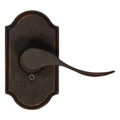Molten Bronze Oil-Rubbed Bronze Right-Hand Premiere Half-Dummy Carlow Door Lever