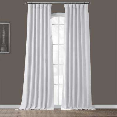 Chalk Off White Bellino Blackout Curtain - 50 in. W x 108 in. L