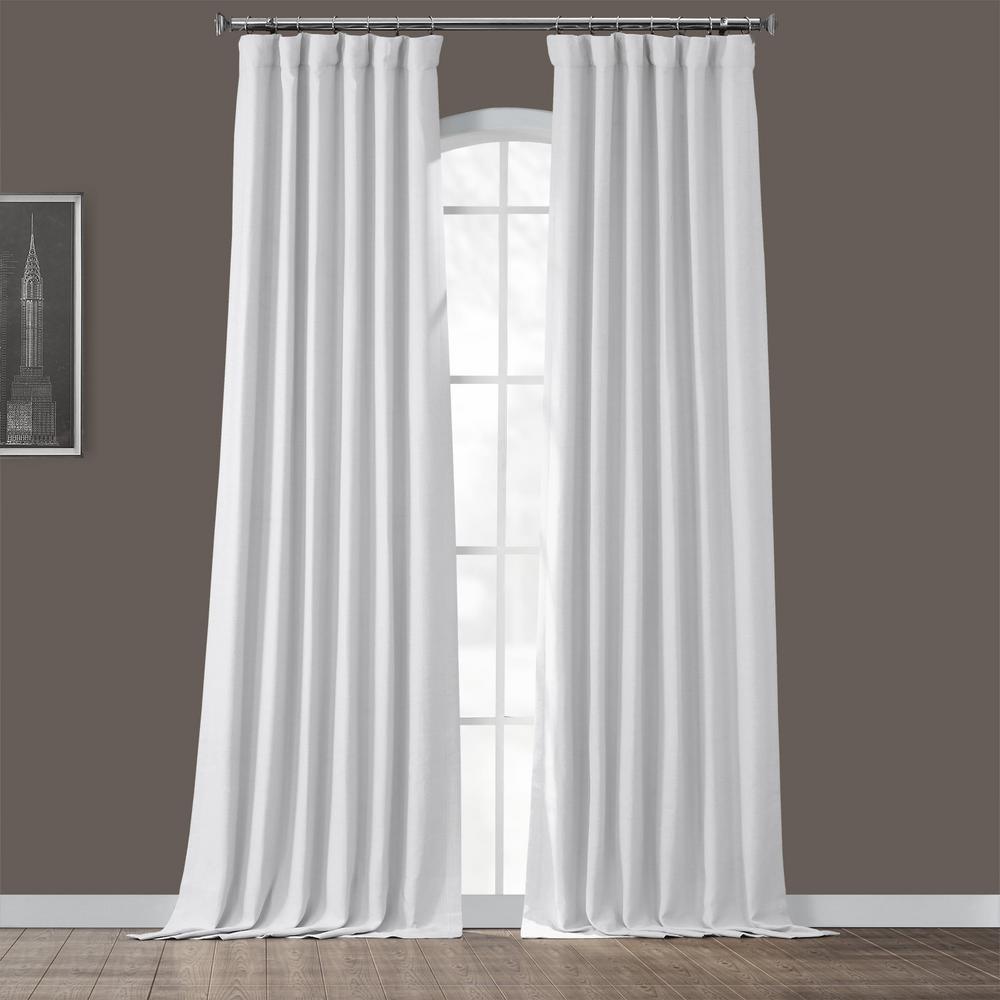 Chalk Off White Bellino Blackout Room Darkening Curtain - 50 in. W x 120 in. L