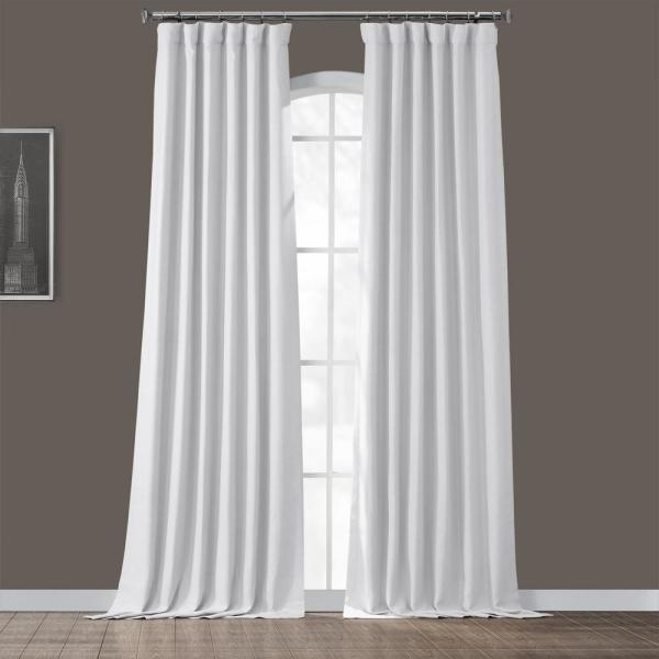 Chalk Off White Bellino Blackout Room Darkening Curtain - 50 in. W x 120 in. L
