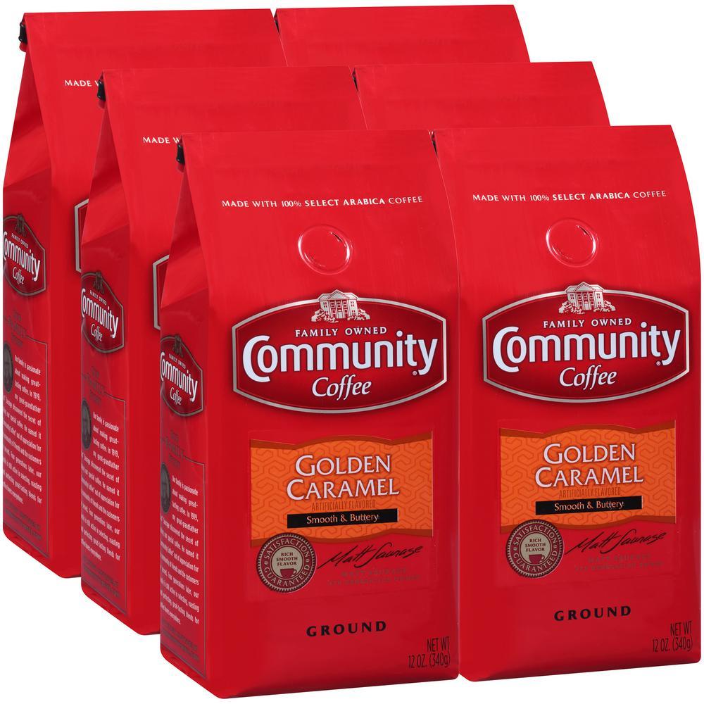 12 oz. Golden Caramel Medium Roast Premium Ground Coffee (6-Pack)
