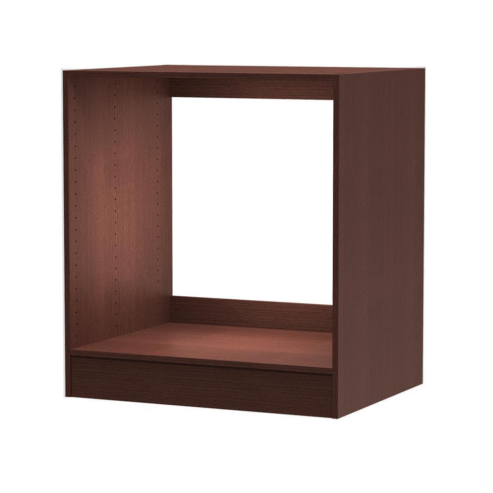 24 in. D x 30 in. W x 34.5 in. H Utility Base Cabinet Melamine Closet System in Mocha