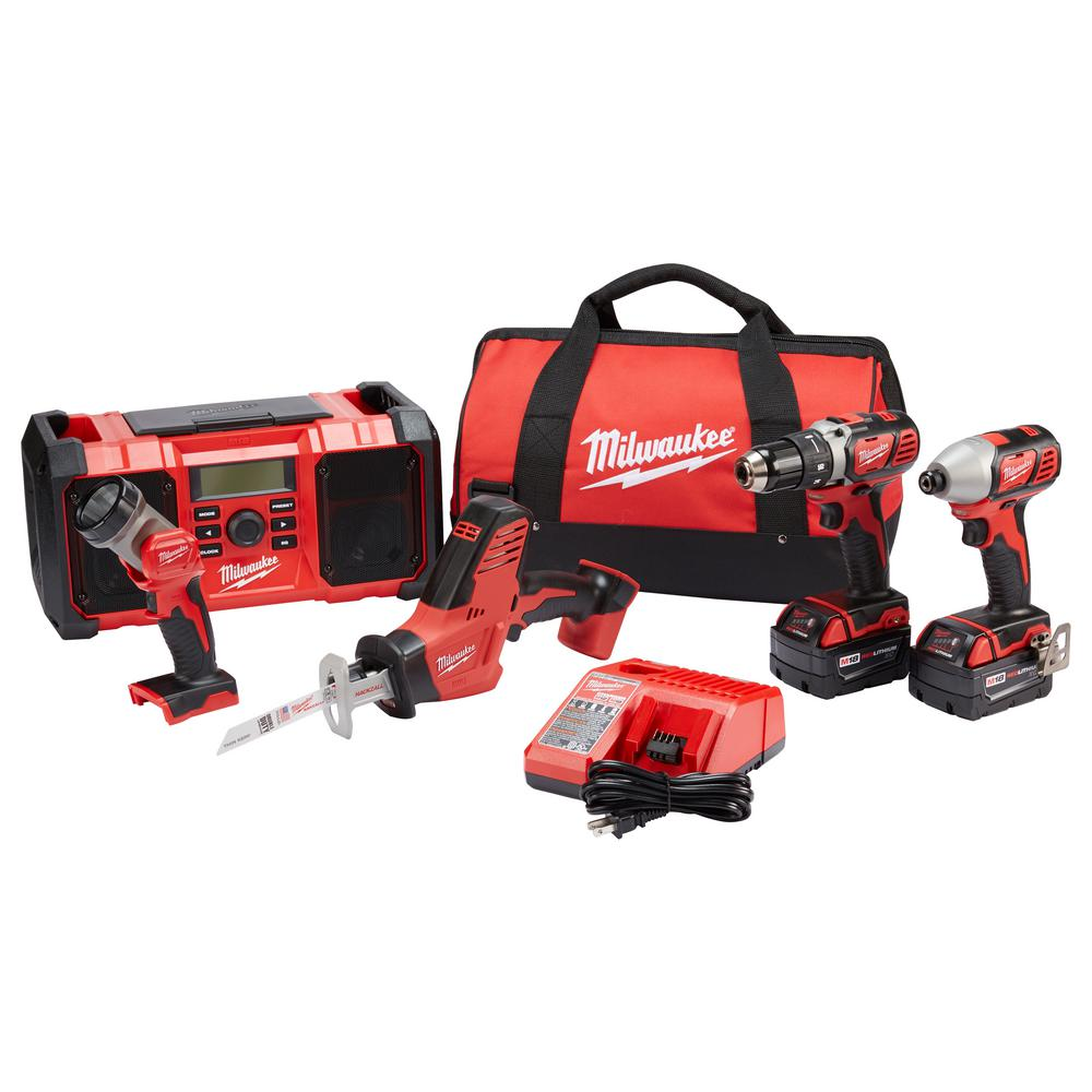 M18 18-Volt Lithium-Ion Cordless Combo Kit (5-Tool) w/(2) 3.0Ah Batteries,