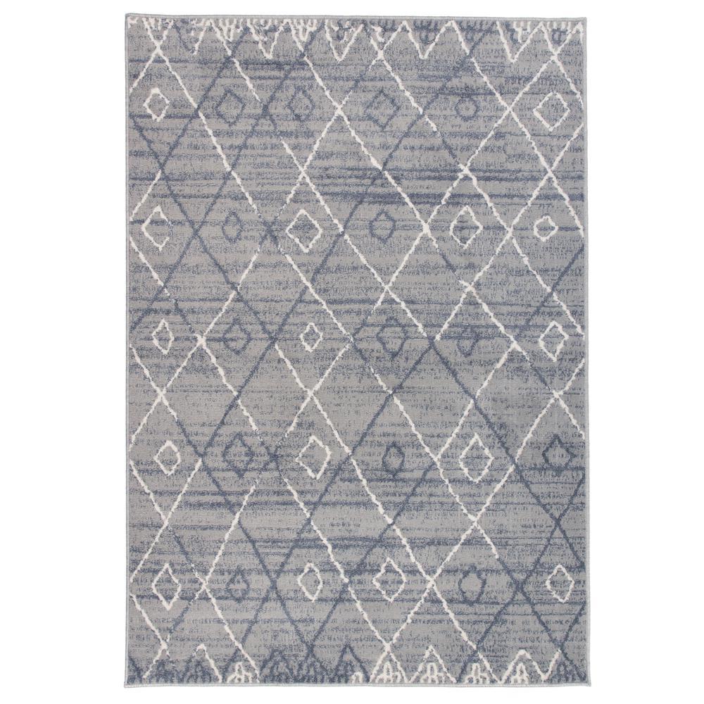 "Geometric Trellis Bohemian Gray 3'3""x5' Area Rug"