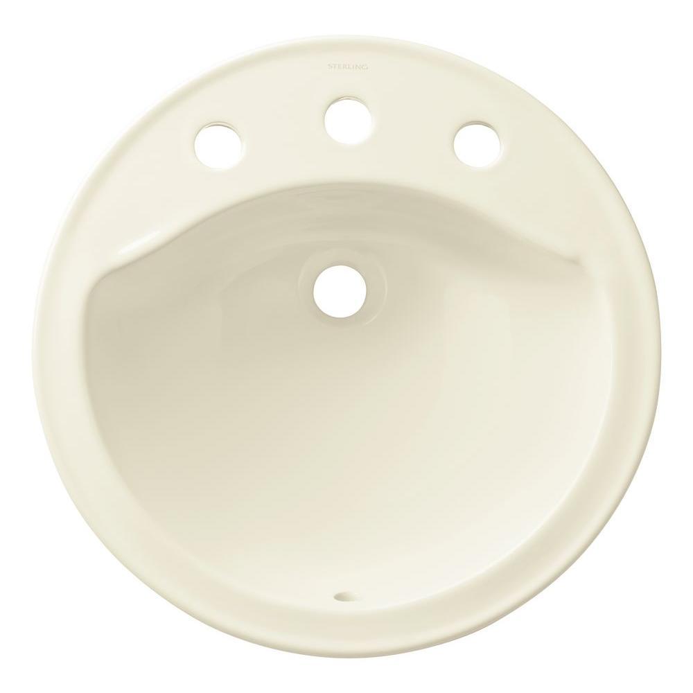 Modesto 19 in. Drop-in Bathroom Sink in Biscuit