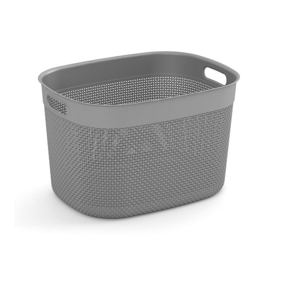 Filo 12.7 Qt. Resin Decorative Plastic Storage Basket
