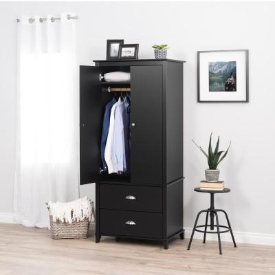 Black - Armoires & Wardrobes - Bedroom Furniture - The Home ...