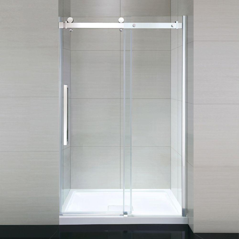 Ove decors sierra 48 in x 81 5 in frameless sliding for 4 ft sliding glass door