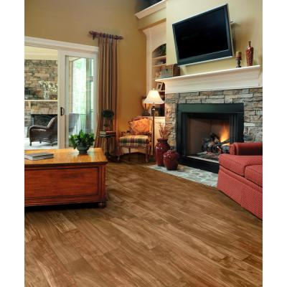 Pro Basic Redwood Acacia Wood Residential Vinyl Sheet Flooring 12ft. Wide x Cut to Length