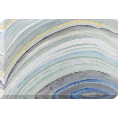 36 in. x 24 in. Agate Waves Stretched Painted Canvas Wall Art