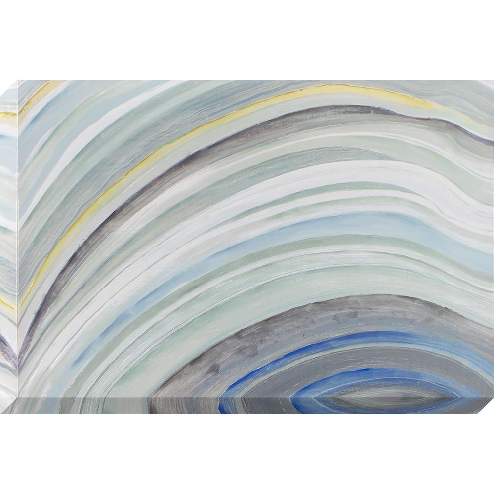 Decor therapy 36 in x 24 in agate waves stretched for Decor therapy
