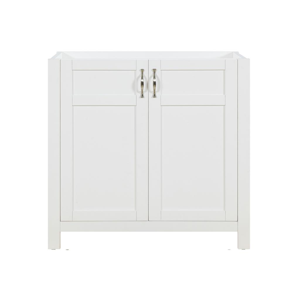 D Rta Non Tool Single Bath Vanity Cabinet Only In White Without Top