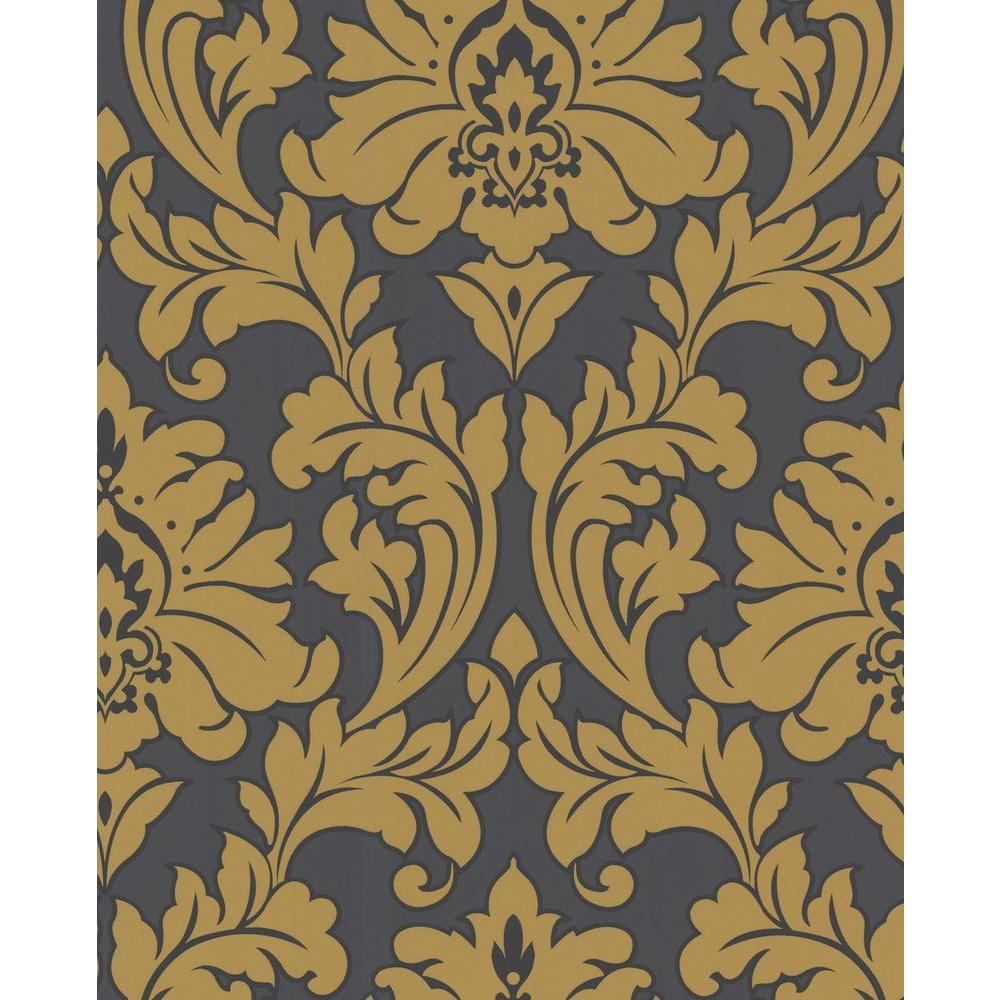 Graham & Brown 56 sq. ft. Majestic Yellow Wallpaper-DISCONTINUED
