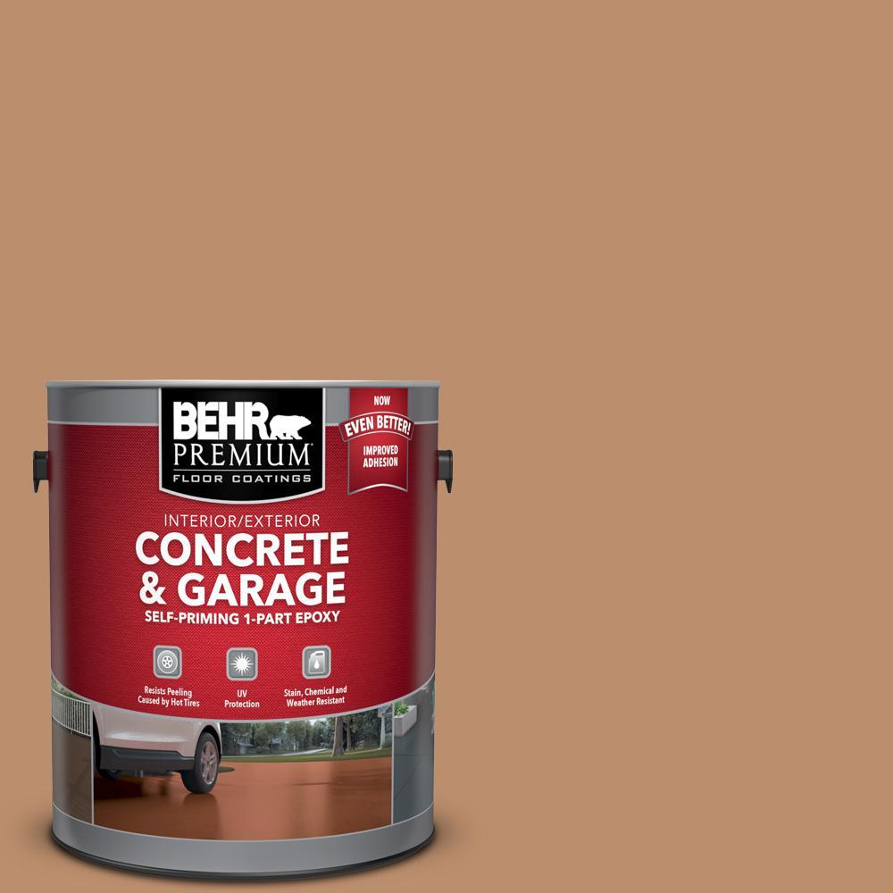 BEHR Premium 1 gal. #PFC-18 Sonoma Shade Self-Priming 1-Part Epoxy Satin Interior/Exterior Concrete and Garage Floor Paint