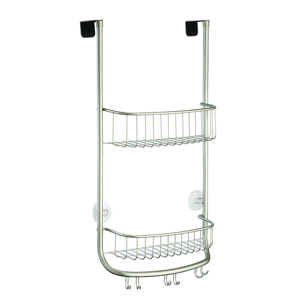Interdesign Forma Over The Shower Door Shower Caddy In Satin 46165