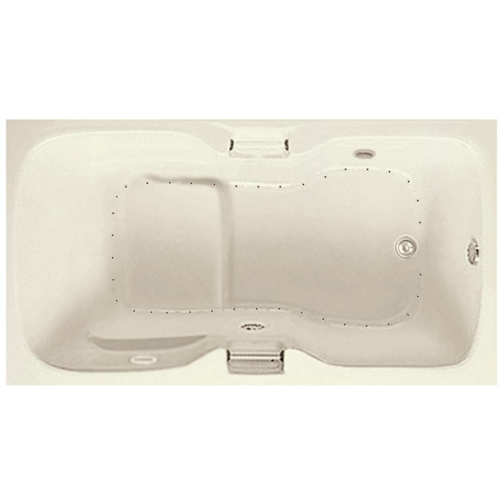 Serenity 5 - 5.5 ft. Acrylic Air Bath Tub in Biscuit