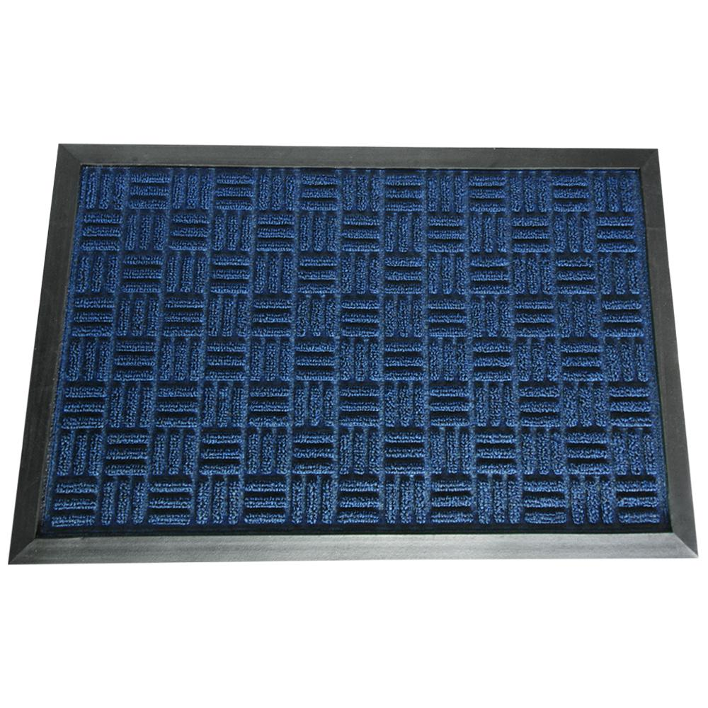 Rubber-Cal Wellington Carpet Doormat Blue 36 in. x 60 in. Rubber Carpet Mat