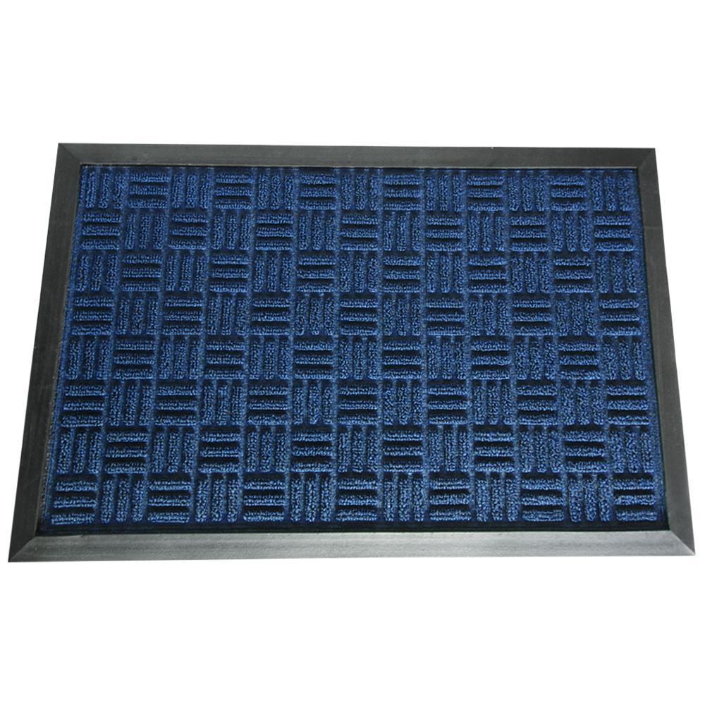4x6 Door Mat #26 - Rubber-Cal Wellington Carpet Doormat Blue 48 In. X 72 In.