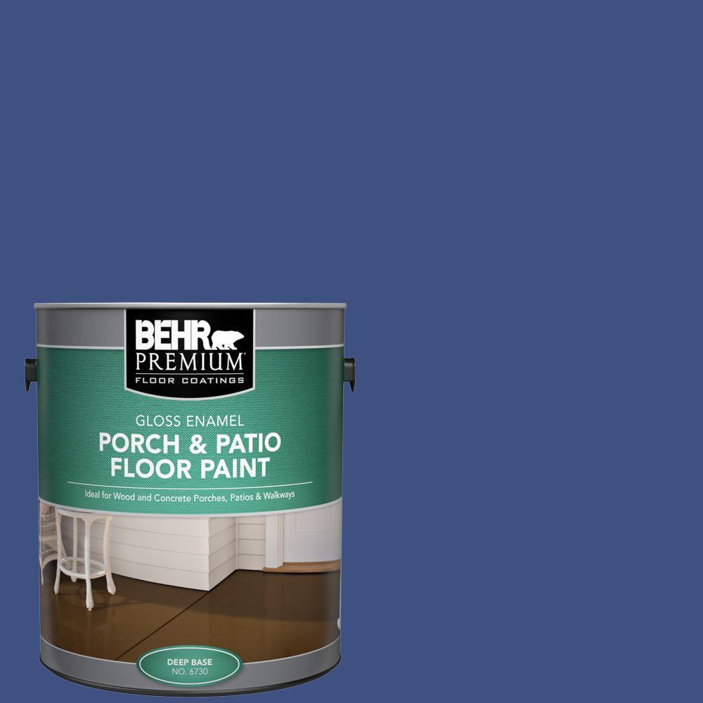 Behr Premium 1 Gal Ppu15 02 Mozart Gloss Enamel Interior Exterior Porch And Patio Floor Paint 673001 The Home Depot