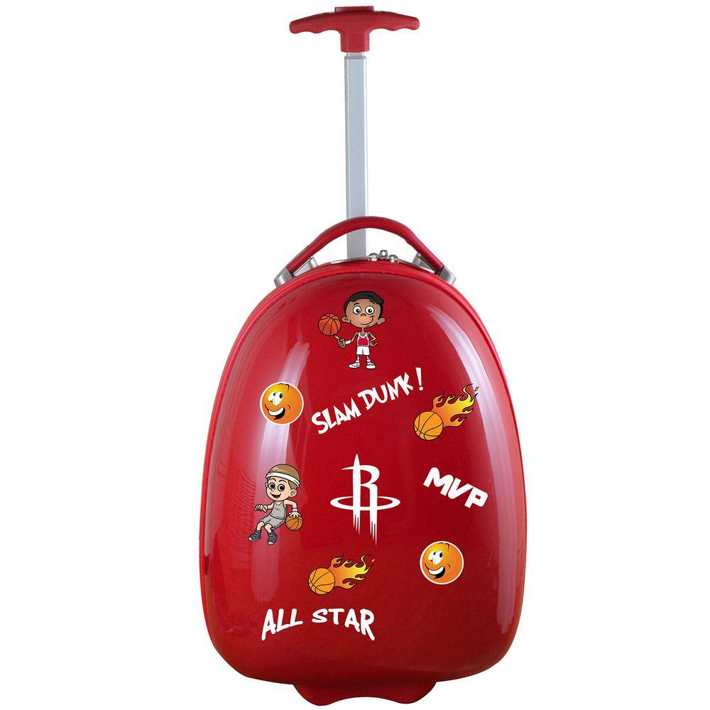 NBA Houston Rockets Red 18 in. Kids Pod Luggage