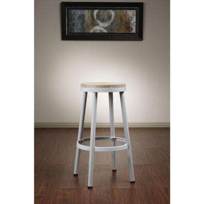 Bristow 30.25 in. White Bar Stool